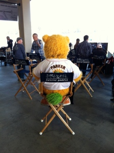 Parker on the set of the movie Parental Guidance.