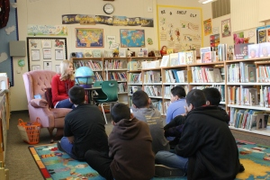 """After the assembly there was an explosion of excitement that not just challenged the kids to read above and beyond what they were normally doing but got them more excited to read different books,"" Easterby Elementary Library Tech Kelly Mitchinson said."