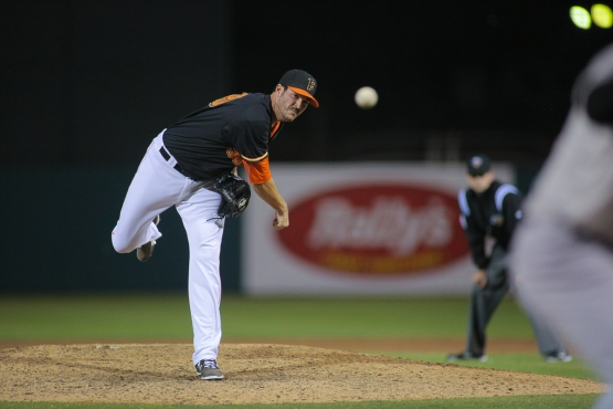 Hoyt owns three saves through the first 15 games of the 2015 season (photo by James Ramirez)
