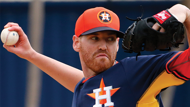 Over four Spring outings for the Astros, he went 0-0 with a 5.91 ERA (7 ER/10.2 IP) and six strikeouts